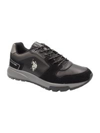 U.S. POLO Ανδρικό Sneaker Μαύρο DEMIR